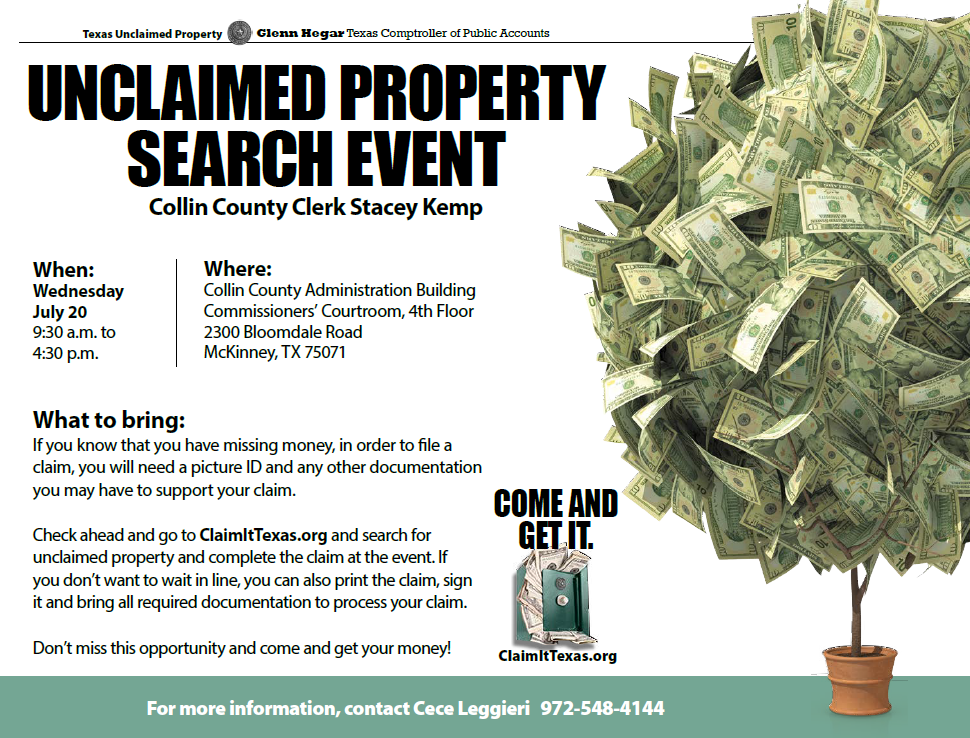 Unclaimed Money And Property In Texas